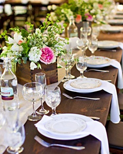 Rustic Yet Elegant Farm Tables