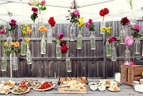 Swing Bottle Décor as for Appetizer Table