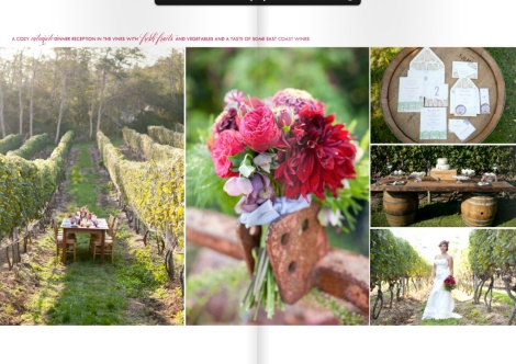 Amazing - Walnut Farm Table in the Vines & Top of Wine Barrel with Invitations
