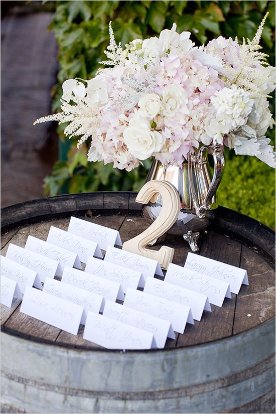 Wine Barrel & Escort Cards