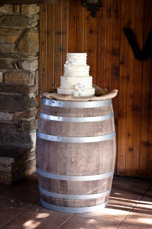 Wine Barrel & Wedding Cake