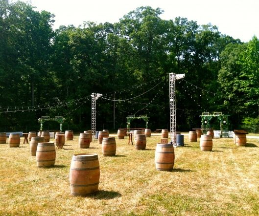 Wine Barrels standing alone