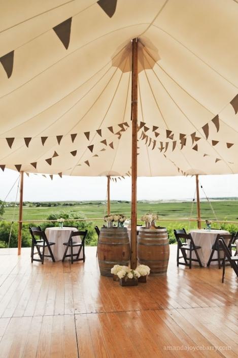 wine barrels & tent