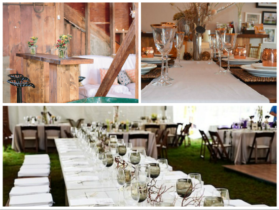 new england country rentals, white wash table, party rentals, event rentals, holiday party ideas, plank table