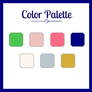 preppy nautical color palette